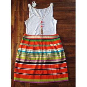 Kate Spade Multi Color Striped Skirt